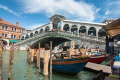 Rialto Bridge Venice Stock Photo