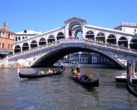 Rialto Bridge, Venice. Stock Images