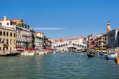 The Rialto Bridge in Venice Stock Photo