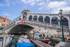 Rialto brige在威尼斯,意大利 库存照片
