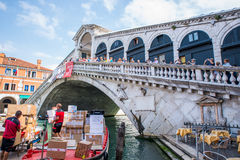 Rialto brige στη Βενετία, Ιταλία Στοκ φωτογραφίες με δικαίωμα ελεύθερης χρήσης