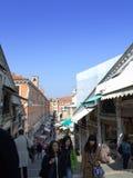 Rialto market tourists,Venice Royalty Free Stock Image