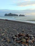 Rialto strand Firepit Royaltyfria Bilder