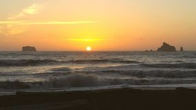 Rialto strandsolnedgång Arkivbilder