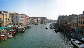 Rialto Venice. Panoramic canal view at Rialto Venice, Italy royalty free stock image