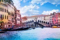 Rialtobrug en groot kanaal royalty-vrije stock foto