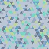Riangle Bezszwowy tło z trójboków kształtami Różni kolory ilustracja wektor