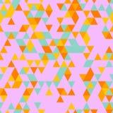 Riangle Bezszwowy tło z trójboków kształtami Różni kolory Zdjęcie Royalty Free