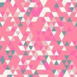 Riangle Bezszwowy tło z trójboków kształtami Różni kolory Fotografia Stock