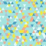Riangle Naadloze Achtergrond met Driehoeksvormen van Verschillende kleuren Stock Afbeeldingen