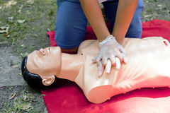 Rianimazione cardiopolmonare - CPR Fotografie Stock Libere da Diritti
