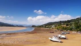Rias of Asturias. Ria de Villaviciosa in Asturias at low tide Stock Photos