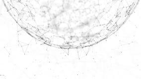 Riassunto del progetto Globe Network on Space Technology royalty illustrazione gratis
