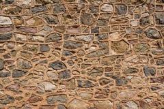 Riassunto: Parete di pietra dalle rovine di Woolshed fotografie stock