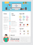 Riassunto piano con Infographics illustrazione di stock