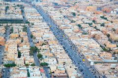 Riaydh. RIYADH - FEBRUARY 29: Aerial view of Riyadh downtown on February 29, 2016 in Riyadh, Saudi Arabia Stock Images