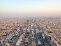 Riaydh. RIYADH - FEBRUARY 29: Aerial view of Riyadh downtown on February 29, 2016 in Riyadh, Saudi Arabia Royalty Free Stock Photos