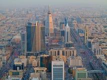 Riaydh. RIYADH - FEBRUARY 29: Aerial view of Riyadh downtown on February 29, 2016 in Riyadh, Saudi Arabia royalty free stock photo