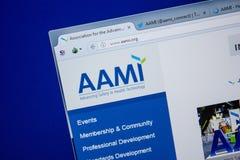 Riazan, Russie - 11 juillet 2018 : Aami site Web d'org sur l'affichage du PC photo stock
