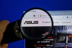 Riazan, Russie - 11 juillet 2018 : Asus site Web de COM sur l'affichage du PC photos libres de droits