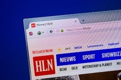 Riazan, Russie - 26 juin 2018 : Page d'accueil de site Web de Fln sur l'affichage du PC URL - Fln Soyez image libre de droits
