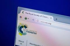 Riazan, Russie - 26 juin 2018 : Page d'accueil de site Web de RSC sur l'affichage du PC URL - RSC org images stock
