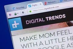 Riazan, Russie - 13 mai 2018 : Site Web de DigitalTrends sur l'affichage du PC, URL - DigitalTrends com Photo libre de droits
