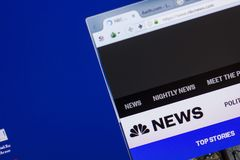 Riazan, Russie - 13 mai 2018 : Site Web de NBCnews sur l'affichage du PC, URL - NBCnews com Images libres de droits