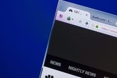 Riazan, Russie - 13 mai 2018 : Site Web de NBCnews sur l'affichage du PC, URL - NBCnews com Image stock