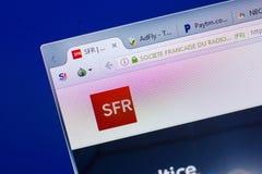 Riazan, Russie - 13 mai 2018 : Site Web de SFR sur l'affichage du PC, URL - SFR Franc Photo stock
