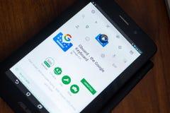 Riazan, Russie - 21 mars 2018 - Gboard - le clavier de Google APP mobile sur l'affichage de la tablette Images libres de droits
