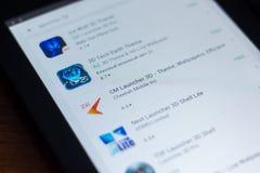 Riazan, Russie - 21 mars 2018 - icône du lanceur 3D de cm dans la liste d'apps mobiles Photos stock