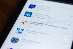 Riazan, Russie - 21 mars 2018 - icône du lanceur 3D de cm dans la liste d'apps mobiles Photo stock