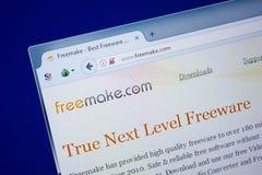 Riazan, Russie - 9 septembre 2018 : La page d'accueil Free font le site Web sur l'affichage du PC, URL - FreeMake com photographie stock
