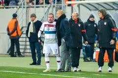 Ribéry i Josep Guardiola Zdjęcie Royalty Free