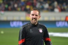 Ribéry ono uśmiecha się Obrazy Royalty Free