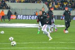 Ribéry before the match FC Shakhtar-FC Bayern. UEFA Champions League Stock Photography