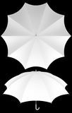 10 rib blank umbrella template isolated Royalty Free Stock Image