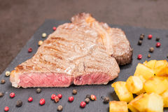 Rib eye beef steak rare roasted Stock Images