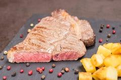 Rib eye beef steak rare roasted Stock Images