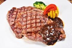 Rib Eye Steak Royaltyfri Fotografi