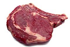 Rib Eye Steak. On White Background Stock Images