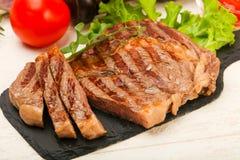 Rib Eye Steak Arkivfoton