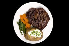 Rib Eye Steak stock images