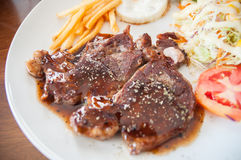 Rib Eye Steak Fotografia Stock Libera da Diritti