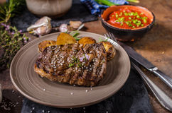 Rib Eye Steak lizenzfreies stockfoto