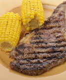 Rib Eye Steak With Corn Royalty Free Stock Image