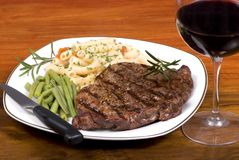 Rib Eye Steak Dinner 1 royalty free stock photos