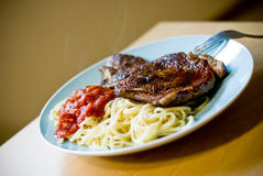 Rib eye Steak dinner Royalty Free Stock Photos
