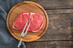 Rib eye steak Royalty Free Stock Image